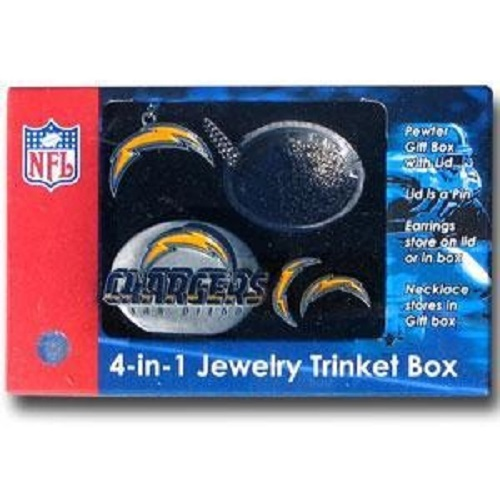 San Diego Chargers Gifts: NFL SD Chargers 4 In 1 Jewelry Trinket Box