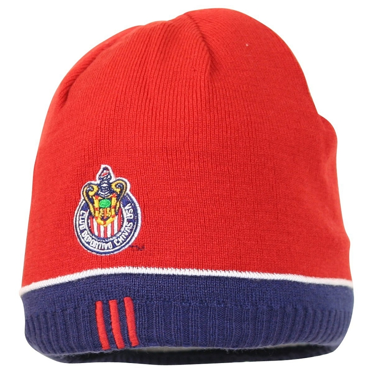 a3e32fa7a9a MLS Club Deportivo Chivas USA Red Knit Hat   Beanie - Reversible