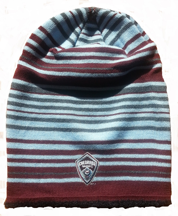 e16f0d23a5b MLS Colorado Rapids Multi Striped Knit Hat   Beanie