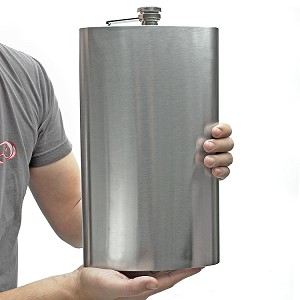 Maxam Enormous 128oz 1 Gallon Stainless Steel Flask