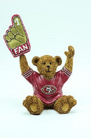 NFL SF 49ers #1 Fan Bobbin Hand Teddy