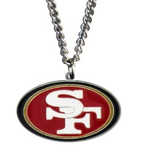 Siskiyou NFL SF 49ers Pewter Pendant Necklace