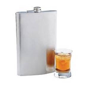 Maxam Jumbo 64 oz 1/2 Gallon Stainless Steel Flask