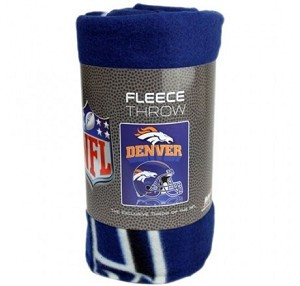 "NFL Denver Broncos 50"" x 60"" Fleece Throw"