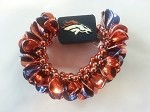 Denver Broncos Team Licensed Petal Bracelet
