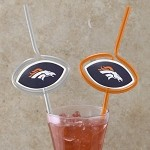 NFL Team Sips (6) - Denver Broncos Novelty Drinking Straws