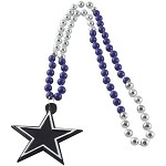 NFL Dallas Cowboys Mardi Gras Beads with Medallion