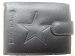 NFL Dallas Cowboys Embossed Logo Black Bi-Fold NFL Wallet