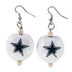 NFL Dallas Cowboys Kukui Nut Earrings