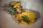 JAMAICAN MAN WITH PINEAPPLE ASHTRAY (LT126)