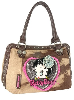 Betty Boop Studded Denim Handbag