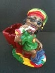JAMAICAN MAN ON TOILET ASHTRAY (LT127)