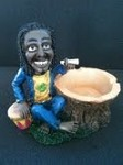JAMAICAN MAN SMOKING W/ BONGOS ASHTRAY (LT45)