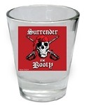 Funny Shot Glasses  - Surrender The Booty