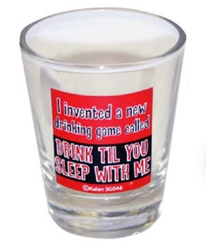 Funny Shot Glasses  - I invented a new drinking game...