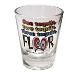 Funny Shot Glasses  - One Tequila, Two Tequila, Three Tequila... FLOOR!