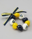 MLS Los Angeles Galaxy Go Nuts Kukui Nut Bracelet