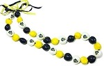 MLS LA Galaxy Kukui Nut Lei Necklace
