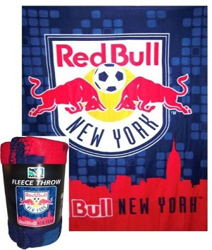 "MLS New York Red Bulls Super Soft Fleece Blanket 50"" x 60"" Fleece Throw"