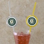 MLB Team Sips (6) - Oakland A's  Novelty Drinking Straws