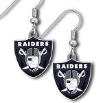 Siskiyou NFL Oakland Raiders Pewter Logo Dangle Earrings