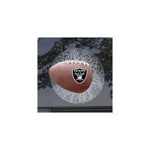 NFL Oakland Raiders Sportz Splatz Football Window Decal