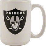 NFL Oakland Raiders 11oz White Coffee Mug
