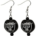 NFL Oakland Raiders Kukui Nut Earrings