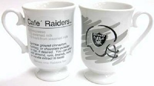 NFL Oakland Raiders Footed Latte Mug