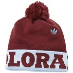 MLS Colorado Rapids  Knit Hat / Burgundy Beanie with Powder Blue Cuff and Burgundy Pom