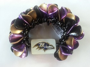 Baltimore Ravens Team Licensed Petal Bracelet