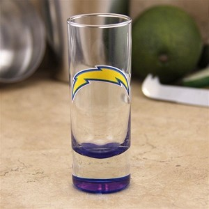 NFL SD Chargers 2oz Tall Cordial Shooter Shot Glass