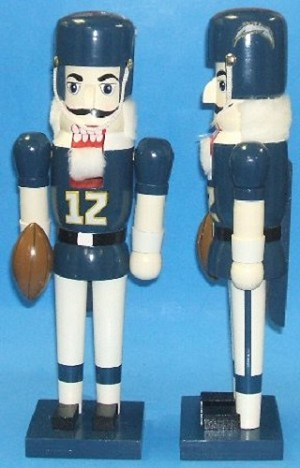 "NFL SD Chargers 13.5"" Nutcracker"
