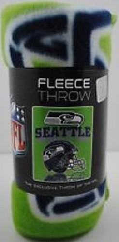 "NFL Seattle Seahawks 50"" x 60"" Fleece Throw"