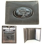 NFL San Francisco 49ers Embossed Logo Brown Tri-Fold NFL Wallet