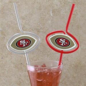 NFL Team Sips (6) - SF 49ers Novelty Drinking Straws
