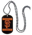 Siskiyou MLB SF Giants Logo 36-Inch Ball Chain with Licensed Dog Tag NeckTag Necklace