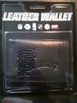 MLB San Francisco Giants Embossed Logo Black Tri-Fold NFL Wallet