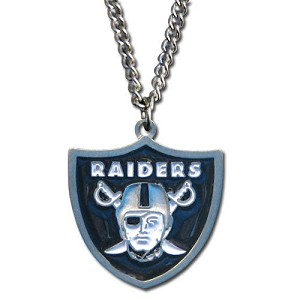 Siskiyou NFL Oakland Raiders Pewter Pendant Necklace