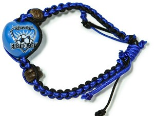 MLS San Jose Earthquakes Kukui Nut Macrame Bracelet