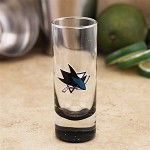 NFL SJ Sharks 2oz Tall Cordial Shooter Shot Glass
