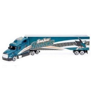NHL San Jose Sharks 1:80 Peterbilt Semi-Truck Diecast