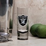 NFL Oakland Raiders 2oz Tall Cordial Shooter Shot Glass