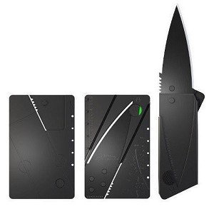 "Ultra thin folding survival credit card ""wallet"" knife"