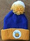 NBA Golden State Warriors Hardwod Classics Jacquard Logo Pom Cuffed Knit Beenie by Mitchell & Ness