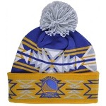 NBA Golden State Warriors Mitchell and Ness Geotech Multi Colored Knit Pom Beanie