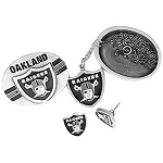 NFL Oakland Raiders 4 in 1 Jewelry Trinket Box