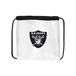 NFL Oakland Raiders Clear Stadium Gameday Drawstring Bag / Pack