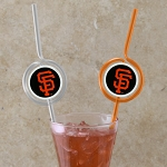 MLB Team Sips (6) - SF Giants  Novelty Drinking Straws