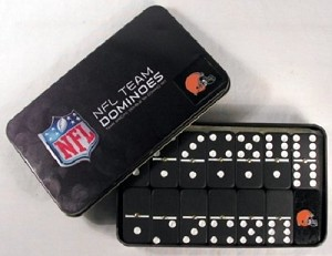 NFL Cleveland Browns Double Six Dominoes